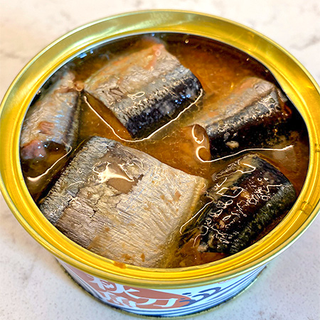 さんま醤油煮 柚子皮入り 【ミヤカン】【缶】の中身画像