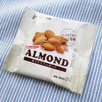小分け煎りたてアーモンド 【カリフォルニア堅果】のパッケージ画像