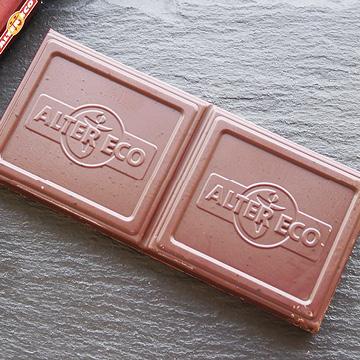 オーガニック フェアトレード チョコレートノワール アブソリュ 【ALTER ECO】の中身画像