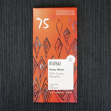 オーガニックダークチョコレート75% 【ヴィヴァーニ】のパッケージ画像