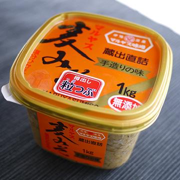 無添加麦味噌 白・粒 【マルヤス味噌】のパッケージ画像