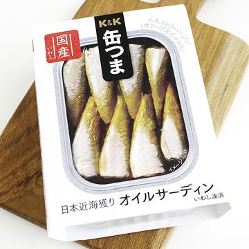 缶つま オイルサーディン 【K&K】【缶】のパッケージ画像
