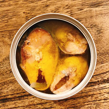 さばオリーブオイル漬け ガーリック 【TOMINAGA】【缶】の中身画像