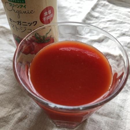 トップバリュ グリーンアイ オーガニック トマトジュース【イオン】の中身画像