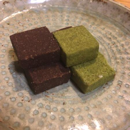 米粉のクッキー 抹茶&ここあ 【ビオクラ】の中身画像
