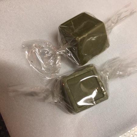 ナチュラルチョコレート 抹茶 【ムソー】の中身画像