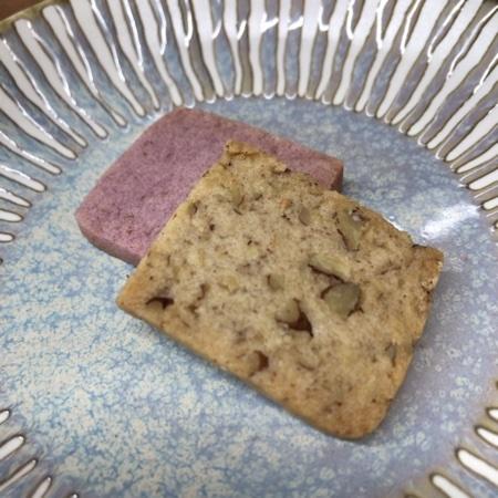 野菜のマクロビオティッククッキー 紫いも&ペカンナッツ 【ビオクラ】の中身画像