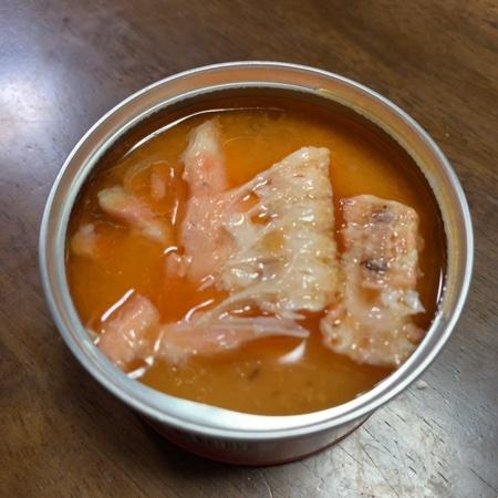カルディオリジナル 鮭の中骨水煮 150g 【カルディ】【缶】の中身画像