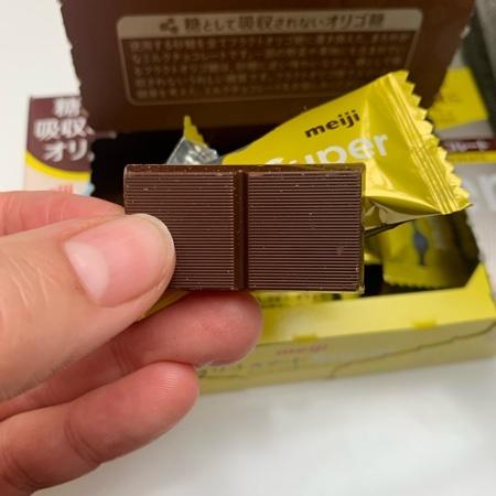 オリゴスマート ミルクチョコレートSUPER 【明治】の中身画像