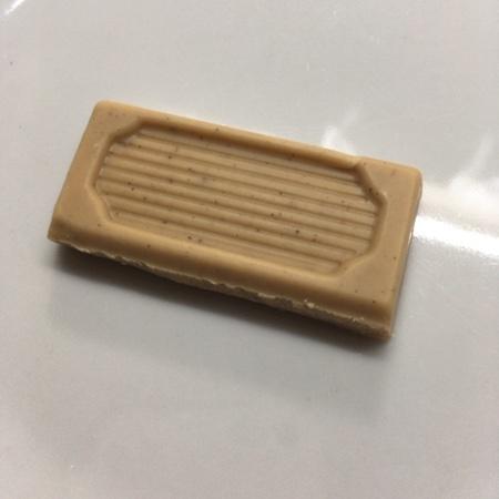 フェアトレード・板チョコレート オーガニック ホワイト・ヘーゼルミルク 【ピープルツリー】の中身画像