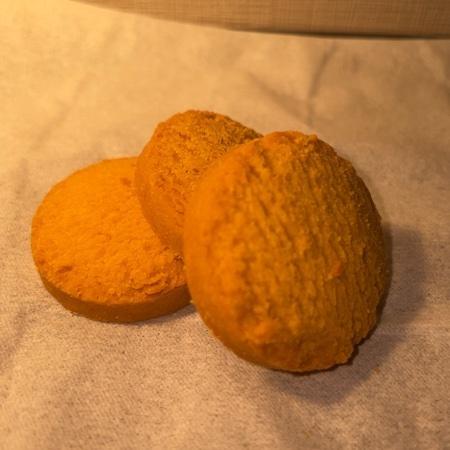 米粉クッキー かぼちゃ 【オーサワ】の中身画像