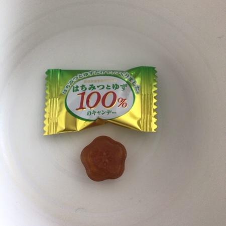 はちみつとゆず100%のキャンデー 【扇雀飴本舗】の中身画像