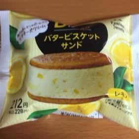 バタービスケットサンド レモン 【ファミリーマート】の中身画像