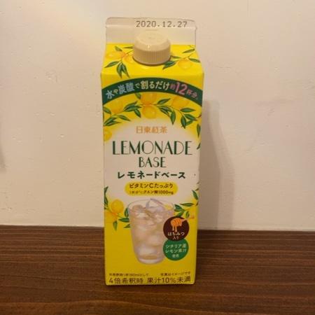 三井農林 レモネードベース 【日東紅茶】のパッケージ画像