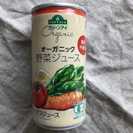 トップバリュ グリーンアイ オーガニック 野菜ジュース【イオン】のパッケージ画像