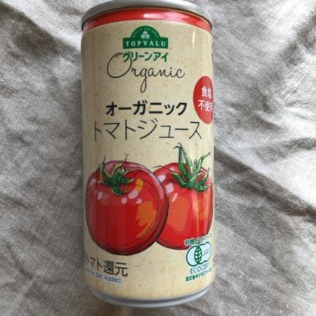 トップバリュ グリーンアイ オーガニック トマトジュース【イオン】のパッケージ画像
