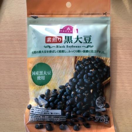 トップバリュ 素煎り黒大豆 【イオン】のパッケージ画像