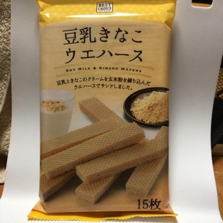 ベストチョイス 豆乳きなこウエハース 【ベルク】のパッケージ画像