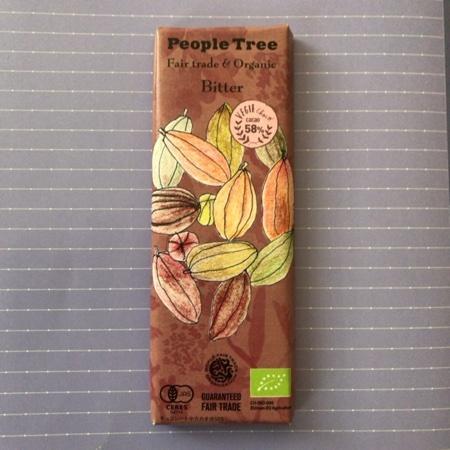 フェアトレードチョコレート オーガニック・ビター 【ピープルツリー】のパッケージ画像