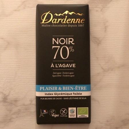 有機アガベチョコレート ダーク カカオ 70% 【ダーデン】のパッケージ画像