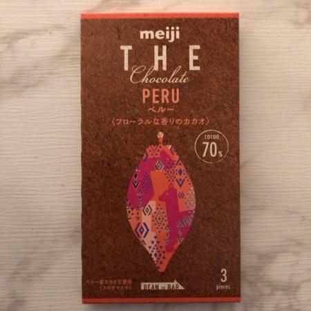 ザ・チョコレート ペルー カカオ70 【明治】のパッケージ画像