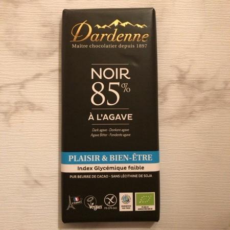 有機アガベチョコレート ダーク カカオ 85% 【ダーデン】のパッケージ画像