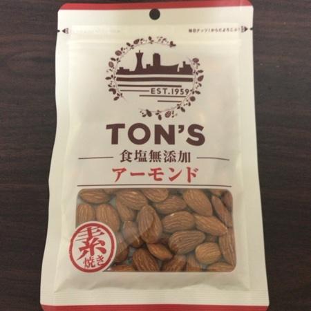 TON'S 食塩無添加アーモンド 【東洋ナッツ】のパッケージ画像