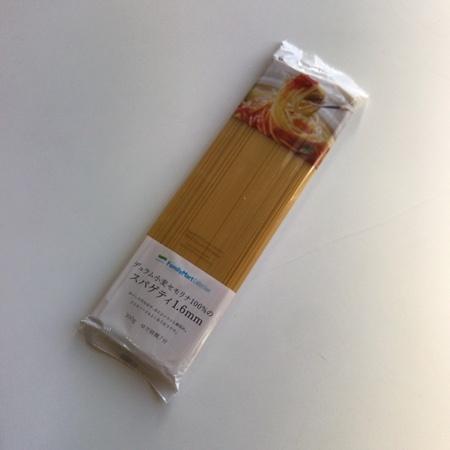 デュラム小麦セモリナ100%使用 スパゲティ 1.6mm 【ファミリーマート】のパッケージ画像