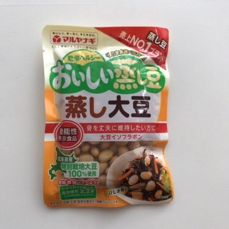 おいしい蒸し豆 蒸し大豆 【マルヤナギ】のパッケージ画像