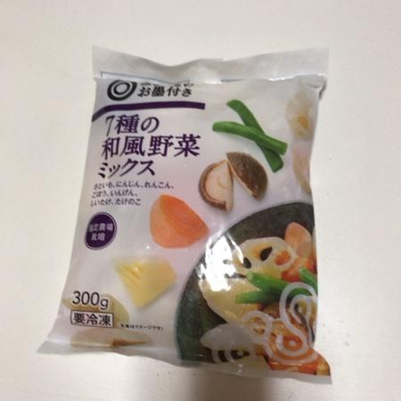 みなさまのお墨付き 7種の和風野菜ミックス 【西友】【冷凍】のパッケージ画像