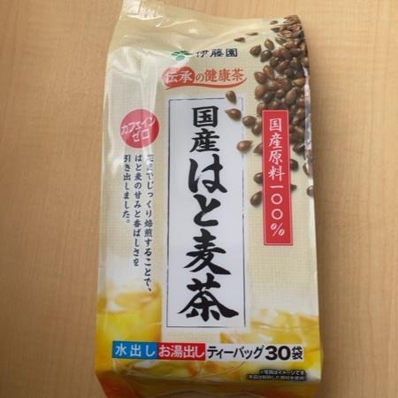 伝承の健康茶 国産はと麦茶 ティーバッグ 30袋【伊藤園】のパッケージ画像