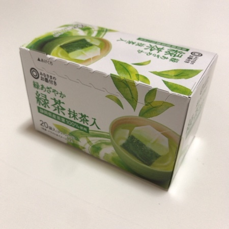 みなさまのお墨付き 緑あざやか緑茶 抹茶入 【西友】のパッケージ画像
