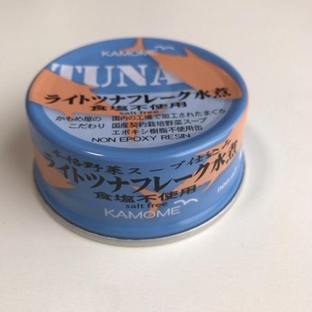 ライトツナフレーク水煮 食塩不使用 【かもめ屋】【缶】のパッケージ画像