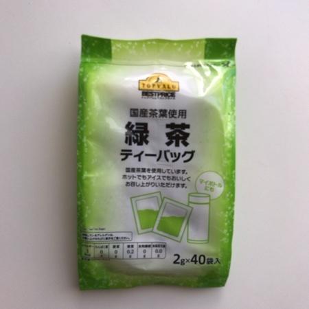 トップバリュ ベストプライス 緑茶ティーバッグ 【イオン】のパッケージ画像