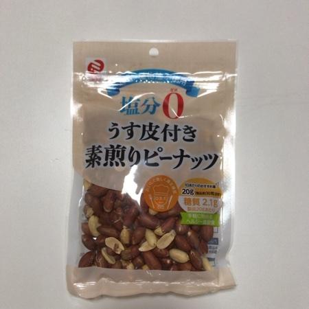 うす皮付き 素煎りピーナッツ 【ミツヤ】のパッケージ画像