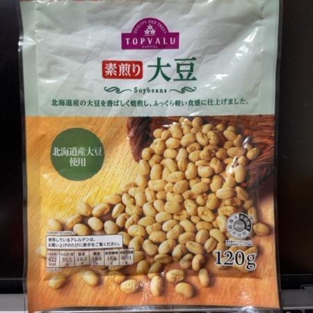 トップバリュ 素煎り 大豆 【イオン】のパッケージ画像