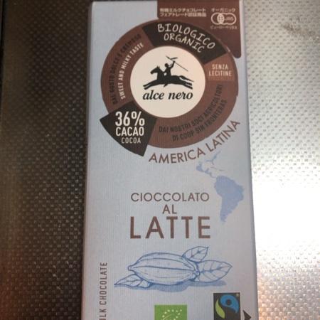 有機ミルクチョコレート 36% 【アルチェネロ】のパッケージ画像