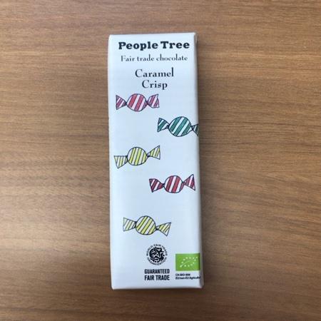 フェアトレード 板チョコレート カラメルクリスプ 【ピープルツリー】のパッケージ画像