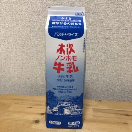 ノンホモ牛乳 1000ml 【木次乳業】のパッケージ画像