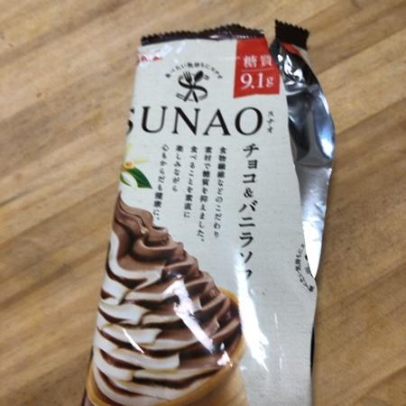 スナオ チョコ&バニラソフト 【グリコ】【冷凍】のパッケージ画像