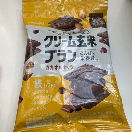 ちょこっとクリーム玄米ブラン カカオナッツ 【アサヒグループ食品】のパッケージ画像