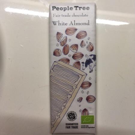 フェアトレード・板チョコレート ホワイト・アーモンド 【ピープルツリー】 のパッケージ画像