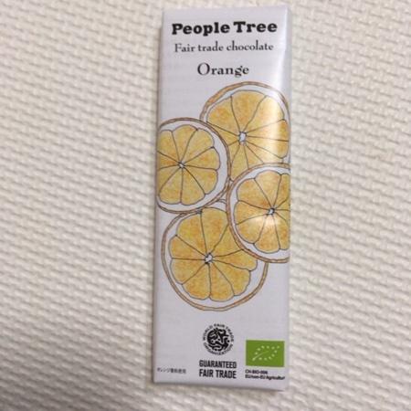 フェアトレードチョコレート オレンジ 【ピープルツリー】のパッケージ画像
