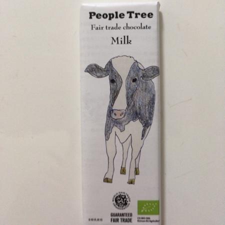 フェアトレード・板チョコレート ミルク 【ピープルツリー】のパッケージ画像