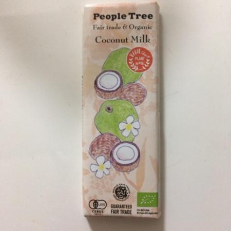 フェアトレード・板チョコレート オーガニック ココナッツミルク 【ピープルツリー】のパッケージ画像