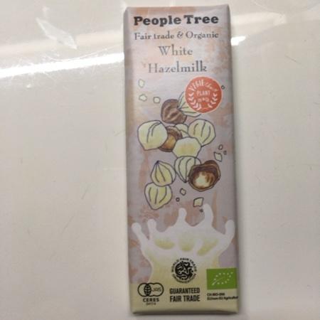 フェアトレード・板チョコレート オーガニック ホワイト・ヘーゼルミルク 【ピープルツリー】のパッケージ画像
