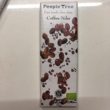 フェアトレード・板チョコレート コーヒーニブ【ピープルツリー】のパッケージ画像