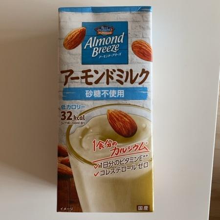 アーモンド・ブリーズ アーモンドミルク 砂糖不使用 【ポッカサッポロ】のパッケージ画像