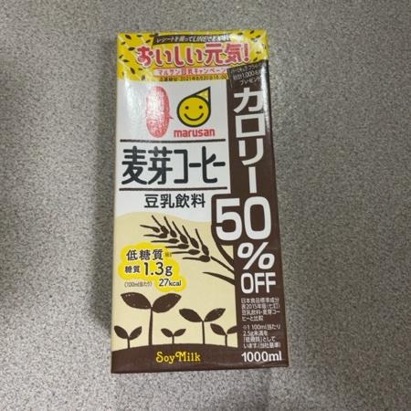 豆乳飲料麦芽コーヒー カロリー50%オフ 【マルサン】のパッケージ画像
