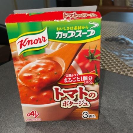 クノールカップ 完熟トマト1個分使ったポタージュ 【味の素】のパッケージ画像